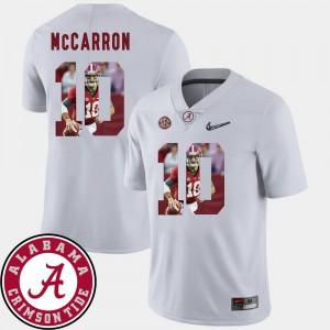 Men's Bama Football #10 Pictorial Fashion AJ McCarron college Jersey - White