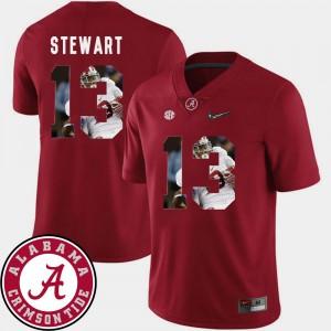 Men Football #13 Pictorial Fashion Alabama ArDarius Stewart college Jersey - Crimson
