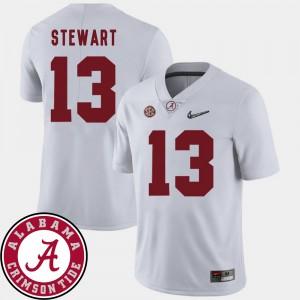 Men Football 2018 SEC Patch #13 University of Alabama ArDarius Stewart college Jersey - White