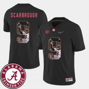 Men's Roll Tide Football #9 Pictorial Fashion Bo Scarbrough college Jersey - Black