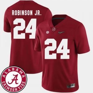 Mens 2018 SEC Patch Alabama Crimson Tide Football #24 Brian Robinson Jr. college Jersey - Crimson