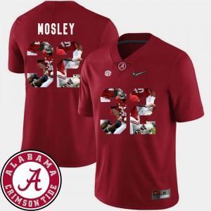 Men's #32 Football Pictorial Fashion Alabama Crimson Tide C.J. Mosley college Jersey - Crimson