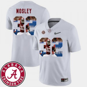 Men Pictorial Fashion Football #32 Roll Tide C.J. Mosley college Jersey - White