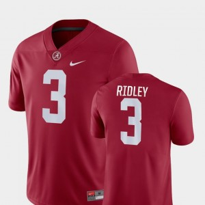 Men's Alabama Roll Tide Game Football #3 Calvin Ridley college Jersey - Crimson
