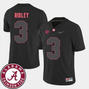 Men's Football #3 2018 SEC Patch Bama Calvin Ridley college Jersey - Black
