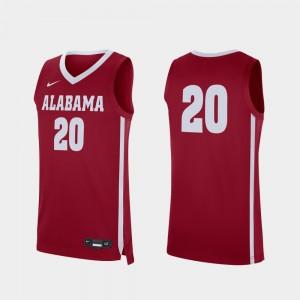 Men's Bama #20 Basketball Replica college Jersey - Crimson