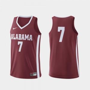 Men Replica Basketball #7 Bama college Jersey - Crimson