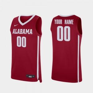 Mens #00 college Custom Jersey - Crimson Replica Basketball Alabama