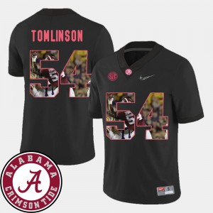 Men's Roll Tide Pictorial Fashion Football #54 Dalvin Tomlinson college Jersey - Black