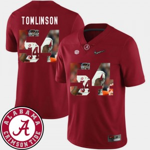 Men Alabama Pictorial Fashion Football #54 Dalvin Tomlinson college Jersey - Crimson