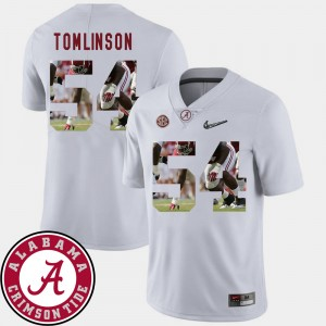 Men Football Bama Pictorial Fashion #54 Dalvin Tomlinson college Jersey - White