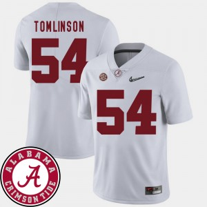 Men Football #54 2018 SEC Patch Roll Tide Dalvin Tomlinson college Jersey - White