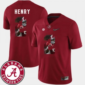 Men's Pictorial Fashion Football #2 Bama Derrick Henry college Jersey - Crimson