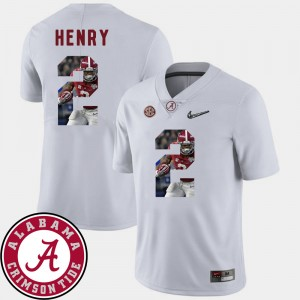 Men's Football Pictorial Fashion Roll Tide #2 Derrick Henry college Jersey - White