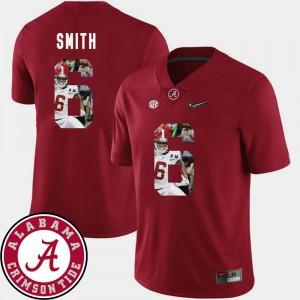 Men's #6 Football Pictorial Fashion Alabama DeVonta Smith college Jersey - Crimson