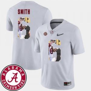 Men's Football Bama #6 Pictorial Fashion DeVonta Smith college Jersey - White