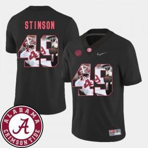 Mens Football Alabama Roll Tide #49 Pictorial Fashion Ed Stinson college Jersey - Black