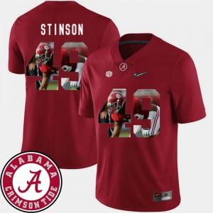 Men Football #49 Pictorial Fashion Bama Ed Stinson college Jersey - Crimson