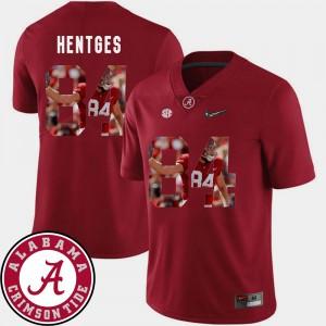 Men's Football University of Alabama #84 Pictorial Fashion Hale Hentges college Jersey - Crimson