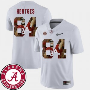 Men Football Pictorial Fashion #84 Roll Tide Hale Hentges college Jersey - White
