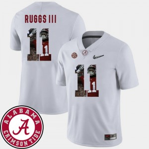 Mens Bama Pictorial Fashion #11 Football Henry Ruggs III college Jersey - White