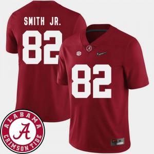 Men's Football 2018 SEC Patch #82 Alabama Crimson Tide Irv Smith Jr. college Jersey - Crimson