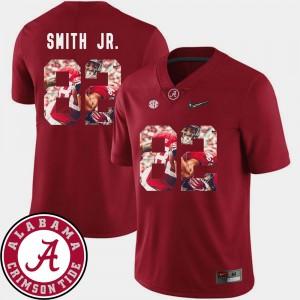 Men's Alabama Crimson Tide Pictorial Fashion Football #82 Irv Smith Jr. college Jersey - Crimson