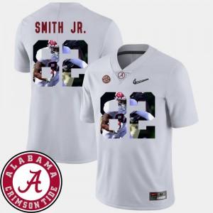Men's Pictorial Fashion #82 Football Alabama Crimson Tide Irv Smith Jr. college Jersey - White