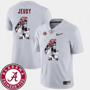 Men's #4 Bama Pictorial Fashion Football Jerry Jeudy college Jersey - White
