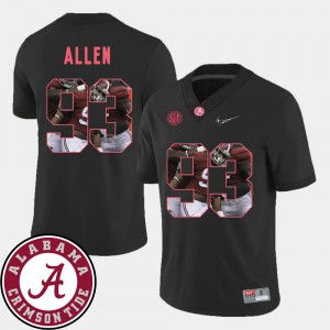 Men #93 Bama Pictorial Fashion Football Jonathan Allen college Jersey - Black