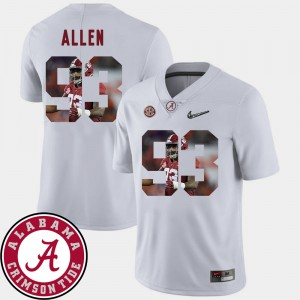 Men Football #93 Roll Tide Pictorial Fashion Jonathan Allen college Jersey - White