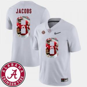 Men Football #8 Alabama Crimson Tide Pictorial Fashion Josh Jacobs college Jersey - White