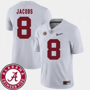 Men's University of Alabama #8 2018 SEC Patch Football Josh Jacobs college Jersey - White