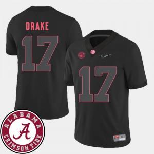 Men 2018 SEC Patch University of Alabama #17 Football Kenyan Drake college Jersey - Black