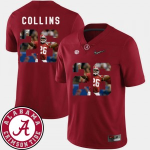 Mens Football #26 Bama Pictorial Fashion Landon Collins college Jersey - Crimson