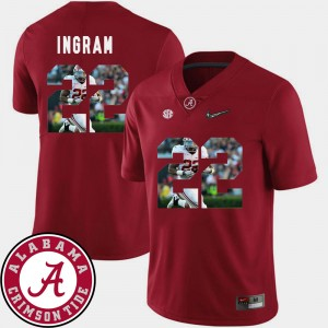 Men #22 Bama Pictorial Fashion Football Mark Ingram college Jersey - Crimson