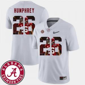 Men #26 Football Alabama Pictorial Fashion Marlon Humphrey college Jersey - White