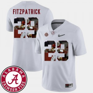 Men #29 Pictorial Fashion Football Roll Tide Minkah Fitzpatrick college Jersey - White