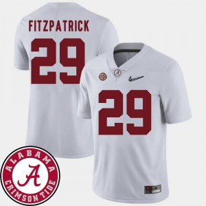 Men's #29 2018 SEC Patch Football Alabama Roll Tide Minkah Fitzpatrick college Jersey - White