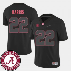 Men's 2018 SEC Patch Alabama Football #22 Najee Harris college Jersey - Black