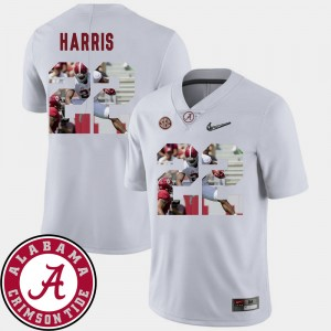 Mens Pictorial Fashion #22 Roll Tide Football Najee Harris college Jersey - White