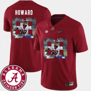 Men's Football Alabama #88 Pictorial Fashion O.J. Howard college Jersey - Crimson