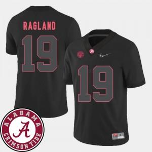 Men's 2018 SEC Patch Alabama Crimson Tide Football #19 Reggie Ragland college Jersey - Black