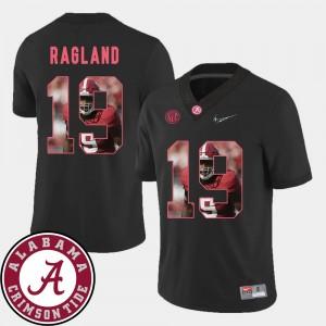 Men Football #19 Pictorial Fashion Alabama Crimson Tide Reggie Ragland college Jersey - Black