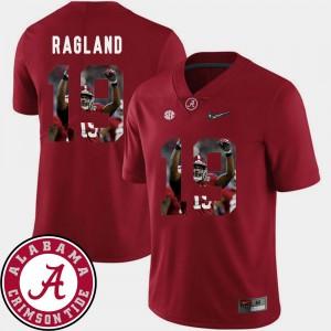 Men's Pictorial Fashion Alabama Roll Tide Football #19 Reggie Ragland college Jersey - Crimson