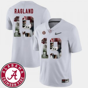 Men #19 University of Alabama Football Pictorial Fashion Reggie Ragland college Jersey - White