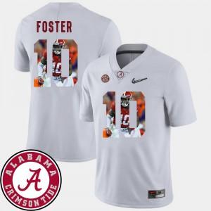 Men's Football Alabama Crimson Tide Pictorial Fashion #10 Reuben Foster college Jersey - White