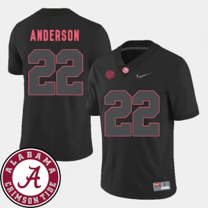 Men's Roll Tide Football #22 2018 SEC Patch Ryan Anderson college Jersey - Black