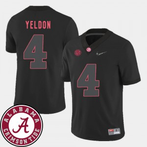 Men's Football 2018 SEC Patch Bama #4 T.J. Yeldon college Jersey - Black