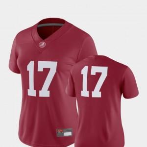 Women's Bama Football #17 2018 Game college Jersey - Crimson